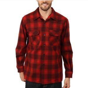 Pendleton Original Board Shirt Red Plaid Flannel